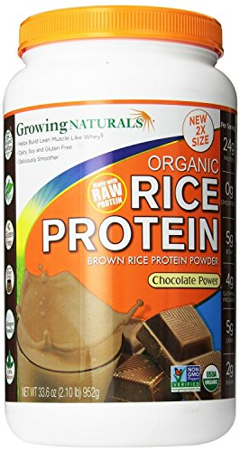 Growing Naturals Organic Rice Protein Chocolate Power -- NET WT 33.6 oz(2.10 lb) (Power Rice compare prices)