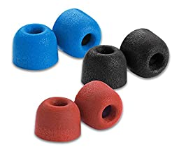 Comply Premium Replacement Foam Earphone Earbud Tips - Isolation T-500 (Multi-Color, 3-Pairs, Large)