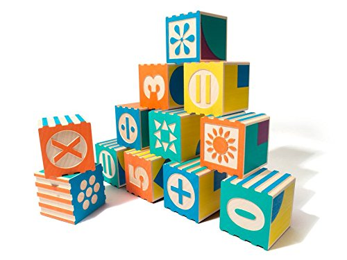 Uncle Goose Groovie Math and Patterning Blocks - Made in USA - 1