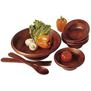 Lipper Cherry Collection 7-Piece Salad Set With 12-Inch Servers