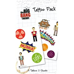 The Big Bang Theory Temporary Tattoos