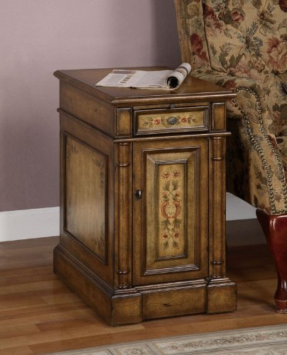 Cheap Chairside End Table with Pull Out Tray in Light Faux Cherry Finish (AZ00-46836×20740)