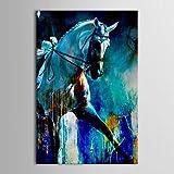 XM handgemaltes Ölgemälde Tierlauf Pferd Wanddekoration mit gestreckten Rahmen