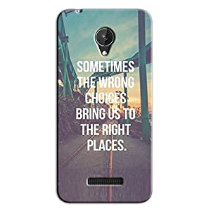 WRONG CHOICE QUOTE BACK COVER FOR MICROMAX CANVAS SPARK Q380