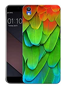 """Colorful Bird FeathersPrinted Designer Mobile Back Cover For """"Oppo F1 PLUS"""" (3D, Matte, Premium Quality Snap On Case)"""