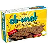 Ak-Mak Sesame Crackers, 4.15-Ounce Boxes (Pack of 12)