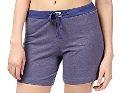 Nuteez Blue Shorts For Women