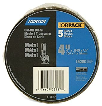 Norton 3987 4-Inch x .040 x 5/8-Inch Cut Off Wheel (Pack of 5)