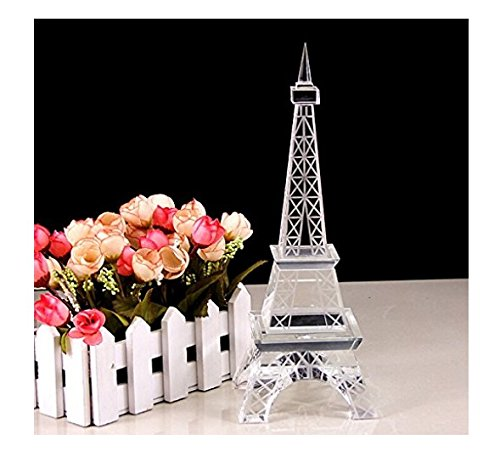 Coeus French Romantic Paris Eiffel Crystal Tower Statue Home Décor Collectible Buildings Gift (21cm Tall) (Crystal Eiffel Tower compare prices)
