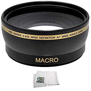 Wide Angle/Macro Lens for the Canon SL1 T5 T3 T5i T4i T3i T2i T1i Xsi XS 60D 70D 7D 6D 5D Mark II 5D Mark III DSLR Cameras which have any of these 18-55mm, 55-250mm, 75-300mm III, 70-300mm IS USM, 24mm f2.8, 28mm f1.8, 50mm f1.4, 65mm f2.8, 85mm f1.8, 90mm f2.8, 100mm f2 & 100mm f2.8 lens