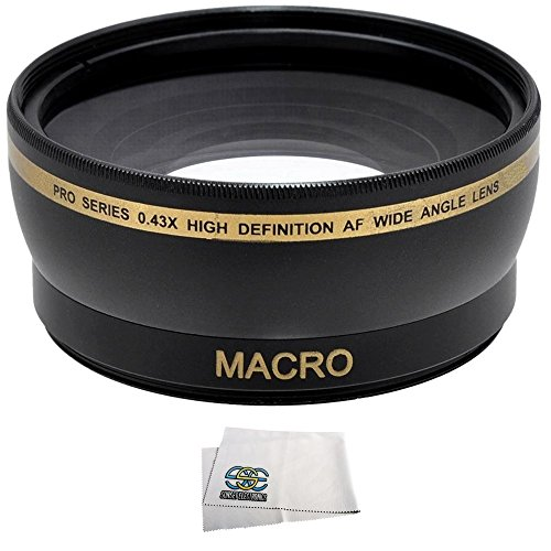 Wide Angle/Macro Lens For The Canon Sl1 T5 T3 T5I T4I T3I T2I T1I Xsi Xs 60D 70D 7D 6D 5D Mark Ii 5D Mark Iii Dslr Cameras Which Have Any Of These 18-55Mm, 55-250Mm, 75-300Mm Iii, 70-300Mm Is Usm, 24Mm F2.8, 28Mm F1.8, 50Mm F1.4, 65Mm F2.8, 85Mm F1.8, 90M