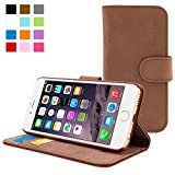 Snugg™ IPhone 6 Case - Leather Flip Case With Lifetime Guarantee (Distressed Brown) For Apple IPhone 6