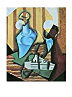 Especial Arte Lienzo Still life with bottle and glass - Juan Gris Multicolor