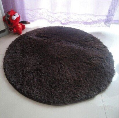 Lover Baby Princess Dreams Round Shaggy Area Rugs And Carpet Super Soft Sitting Room And Bedroom For Kids Play ,Carpet Computer Chair Cushion (Coffee) front-975706