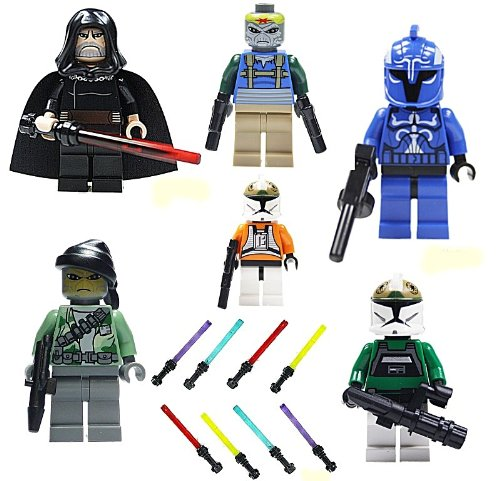 Lego Star Wars Figuren: LEGO Star Wars Minifiguren - 6 Figuren ...