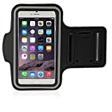 iPhone 6 Plus Armband, Gtopin(TM) Waterproof iPhone 6 Plus Armband 5.5 inch, Sport Armband Case with Key Holder and Headphone Jack for iPhone 6 Plus 5.5 inch, iPhone 6 Plus Armband for Sport such as Running, Jogging, Gym, Cycling, Walking, Exercise & Fitness - Black