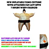 New Inflatable Sumo Costume with attached fan last upto 7 hours when charged