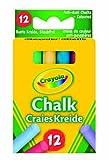 Crayola 0281 - 12 Tizas De Colores Antipolvo