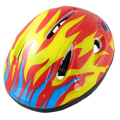 Como Adults Bicycle Bike Cycling Skating Fire Flame Helmet Red Yellow