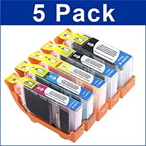 eForCity best Replacement Canon PGI-5 CLI8 Ink Compatible with iP4300 MP830 MP600 MP800 (5-PACK)