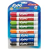 Expo 2 Low-Odor Dry Erase Markers, Chisel Tip, 8-Pack, Fashion Colors