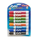 Expo 2 Low-Odor Dry Erase Markers, Chisel Tip, Fashion Colors, 8-Count