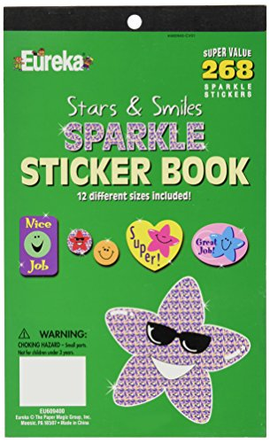 Eureka Stars and Smiles Sparkle Sticker Book