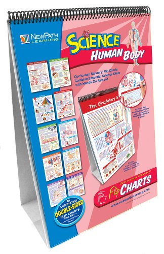 Newpath Learning 10 Piece Human Body Science Curriculum Mastery Flip Chart Set, Grade 6-10