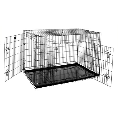 Premium Quality Folding Pet Crate Kennel Wire Cage for Dogs Cats or Rabbits - 48 Inches