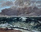 Oil Painting 'Gustave Courbet-The Wave,1867-1869', 18 x 23 inch / 46 x 60 cm , on High Definition HD canvas prints is for Gifts And Dining Room, Garage And Home Office Decoration, quick