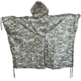 Brand New Fashion Us Waterproof Hooded Ripstop Wet Festival Rain Poncho At-Digital Camo