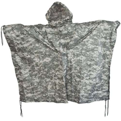 Buy Cheap Brand New Fashion Us Waterproof Hooded Ripstop Wet Festival Rain Poncho At-Digital Camo