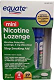 Equate Mini Nicotine Lozenge 4mg 27ct Compare to Nicorette Mini Lozenge