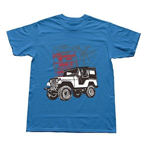 Man Travel By Car Custom Cool Royalblue Tshirt By Rrg2G