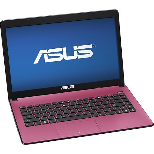 ASUS Laptop Computer / 14-inch Display Screen / Intel Pentium B980 Dual-core Processor / 4GB DDR3 RAM Memory / 320GB Hard Drive / 6-cell Battery / Webcam / HDMI / USB 3.0 / Windows 8 64-bit (Matte Pink)