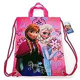 Disney Frozen Queen Elsa and Anna Drawstring String Backpack School Sport Gym
