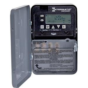 Intermatic ET8015C 7-Day 30-Amps SPST Electronic Astronomic Time Switch, Clock Voltage 120-Volt - 277-Volt NEMA 1