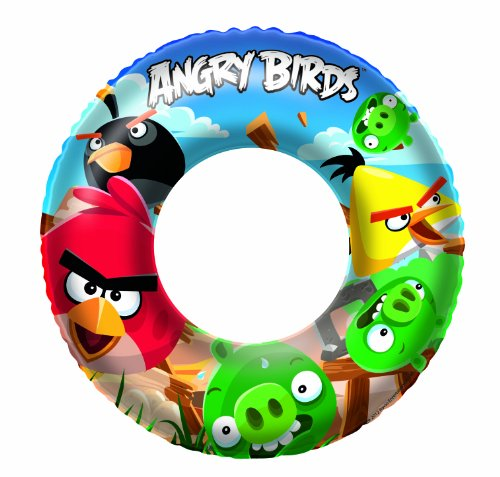 "Bestway Toys Domestic Angry Birds Swim Ring, 22"" - 1"