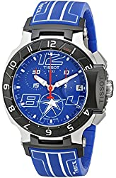 Tissot Men's T0484172704700 Nicky Hayden T-Race Limited Edition Analog Display Swiss Quartz Blue Watch