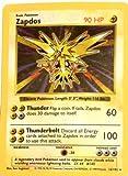 Zapdos Base 1 Set - Pokemon Basic Card 16/102 Holo Foil