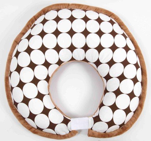 Dots white/chocolate Nursing Pillow
