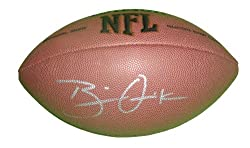 Brian Quick Autographed NFL Wilson Composite Football, St Louis Rams, Proof Photo