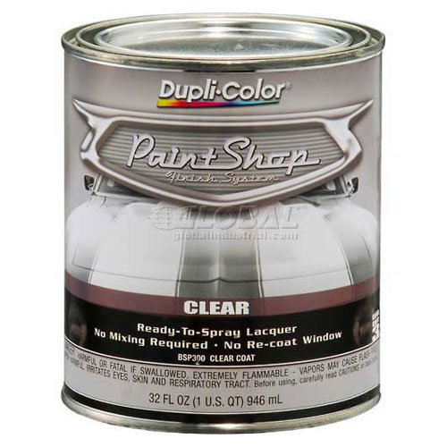 dupli-color-paint-shop-finish-system-clear-top-coat-gloss-clear-32-oz-quart-lot-of-2