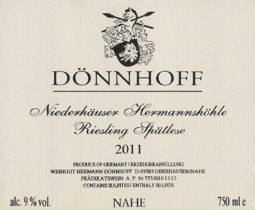 2011 Donnhoff Niederhäuser Hermannshöhle Riesling Spätlese 750 Ml