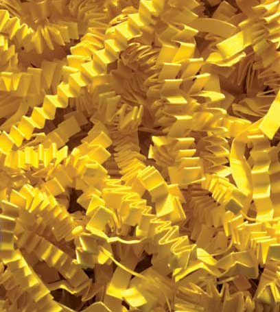 1/2 LB Crinkle Cut Paper Shred - Yellow