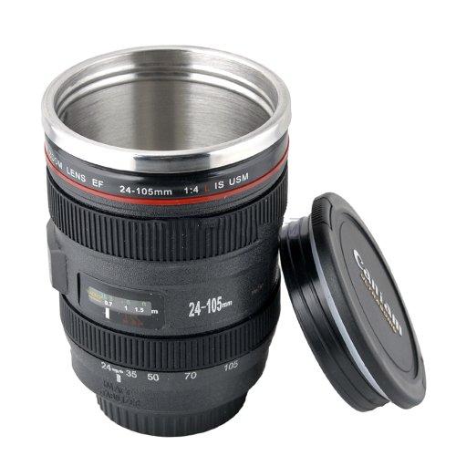 Camera Lens Stainless Steel Coffee Mug