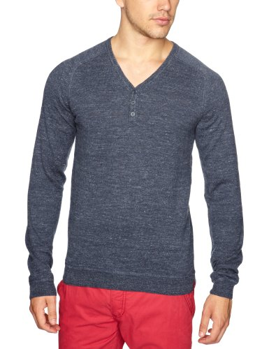 Esprit 072CC2I004 Men's Jumper Dark Washed Blue XX-Large