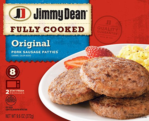 Jimmy Dean, Fully Cooked Sausage Patties, 9.6 oz (Frozen)