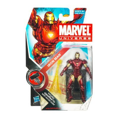 Picture of Disney Marvel Universe 3 3/4 Inch Series 2 Action Figure Iron Man (B0038RCSMA) (Iron Man Action Figures)