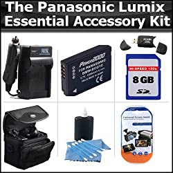 8GB Buyers Choice Accessory Kit For Panasonic Lumix DMC-ZS7 DMC-ZS5 DMC-ZS10, DMC-ZS8, DMC-ZS9, DMC-3D1, DMC-ZS20, DMC-ZS15 Kit Includes 8GB Memory, Extended Replacement Panasonic DMW-BCG10 (1200 mAH) Lithium-Ion Battery + AC/DC Charger + Case + More